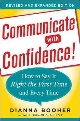 Communicate With Confidence By Booher, Dianna